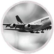 Qantas A380 0703126 Round Beach Towel