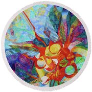 Qi Round Beach Towel by Polly Castor