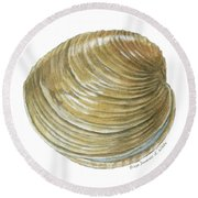 Quahog Shell Round Beach Towel