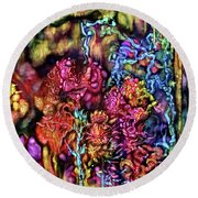Round Beach Towel featuring the digital art Qualia's Cave by Russell Kightley