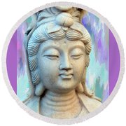 Quan Yin Goddess Round Beach Towel