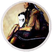 Quanah Parker The Last Comanche Chief II Round Beach Towel
