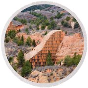 Quarry At Red Rock Canyon Colorado Springs Round Beach Towel