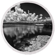 Quarry Keys Round Beach Towel by Kevin Cable
