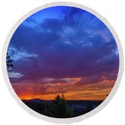 Quartz Canyon Sunset Round Beach Towel