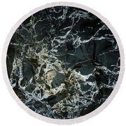 Quartz Veins Abstract 1 Round Beach Towel by Richard Brookes