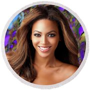 Queen Beyonce Round Beach Towel