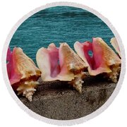 Queen Conch Round Beach Towel
