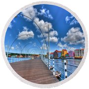 Queen Emma Bridge Round Beach Towel
