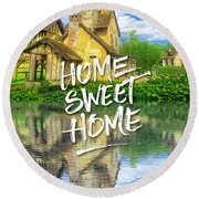 Queen Marie-antoinette Hamlet Cottage Versailles Paris France Round Beach Towel