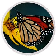 Queen Monarch 2 Round Beach Towel