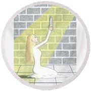 Queen Of Obelisks Round Beach Towel