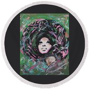 Queen Of Queens Round Beach Towel