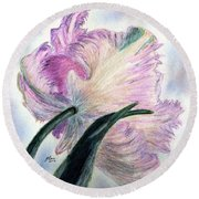 Queen Of Spring Round Beach Towel by Angela Davies