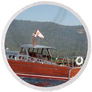 Queen Of Tahoe Round Beach Towel