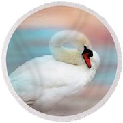 Queen Of The Lake Round Beach Towel by Wallaroo Images