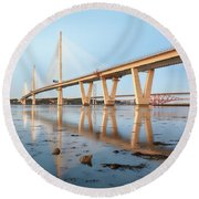 Queensferry Crossing 5 Round Beach Towel