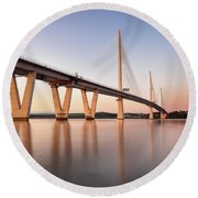 Queensferry Crossing Round Beach Towel