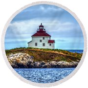 Queensport Lighthouse Round Beach Towel by Ken Morris