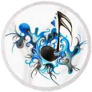 Quenched By Music Round Beach Towel