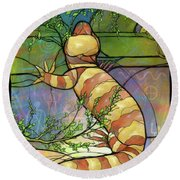 Quiet As A Mouse Round Beach Towel
