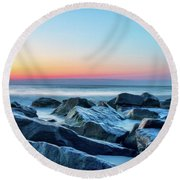 Quiet Beach Haven Morning II Round Beach Towel