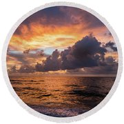 Quiet Beauty Round Beach Towel