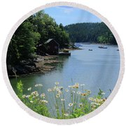 Quiet Cove 2 Round Beach Towel