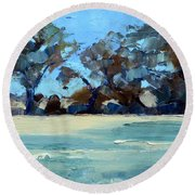 Quiet Fields Round Beach Towel