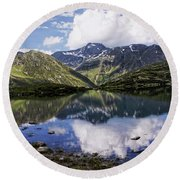 Round Beach Towel featuring the photograph Quiet Life by Annie Snel