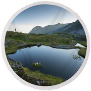 Quiet Lofoten Round Beach Towel