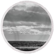 Quiet Shores After The Storm Round Beach Towel