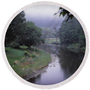 Quiet Stream- Woodstock, Vermont Round Beach Towel