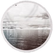 Round Beach Towel featuring the photograph Quiet Waters by Keith Elliott