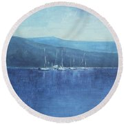 Quietude Round Beach Towel