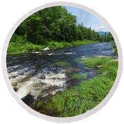 Quill Pond Brook Near Rangeley Maine  -70748 Round Beach Towel