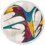 Quills Round Beach Towel
