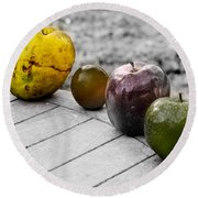 Quince Round Beach Towel