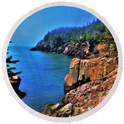 Quoddy Head Round Beach Towel