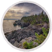 Round Beach Towel featuring the photograph Quoddy Head State Park by Rick Berk