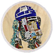 R2-d2 Star Wars Afrofuturist Collection Round Beach Towel