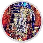 R2 - D2 Round Beach Towel
