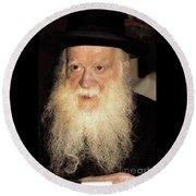 Round Beach Towel featuring the photograph Rabbi Yehudah Zev Segal by Doc Braham