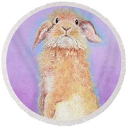 Rabbit Painting - Babu Round Beach Towel