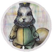 Rabbit Pierrot Round Beach Towel