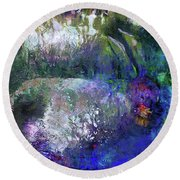 Rabbit Reflection Round Beach Towel