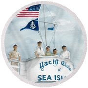 Race Committee  Round Beach Towel