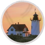 Race Point Light Round Beach Towel
