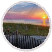 Race Point Sunset 2015 Round Beach Towel