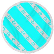 Race To The Sea 2 Round Beach Towel
